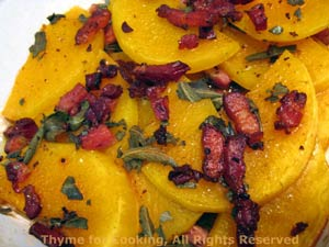 Butternut Squash with Bacon and Sage