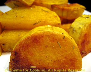 Roasted Butternut Squash Slices with Rosemary
