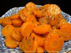 Carrots with Mustard Glaze