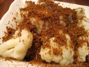 Cauliflower with Paprika Crumbs