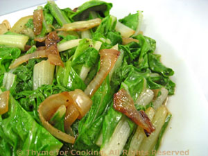 Sautéed Chard with Browned Onions
