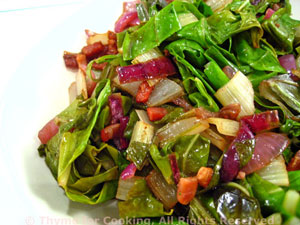 Sautéed Chard with Red Onion