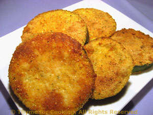 Baked Zucchini (Courgette) Rounds