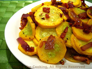 Summer Squash (Courgette) with Bacon