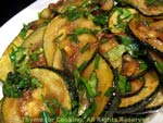 courgette with balsamic vinegar