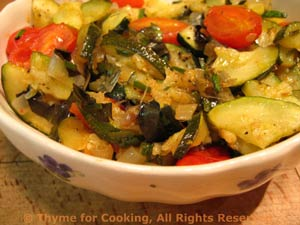 Sautéed Zucchini (Courgette) with Cherry Tomatoes