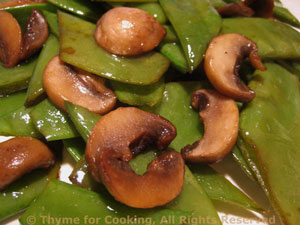 Snow Peas with Mushrooms