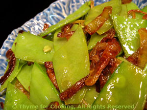 Snow Peas with Browned Shallots
