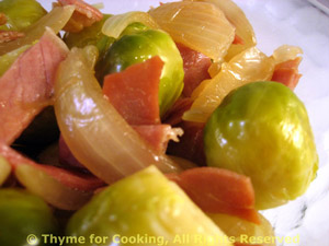 Brussels Sprouts with Prosciutto and Shallots