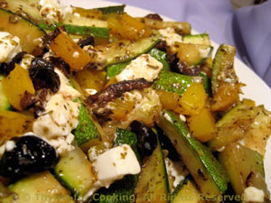 Sautéed Zucchini (Courgette) with Feta and Olives